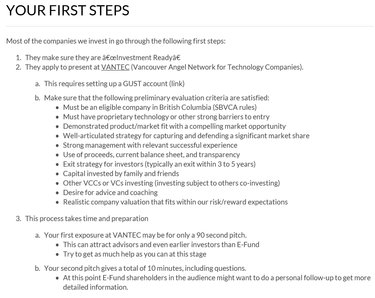 e-Fund First Steps