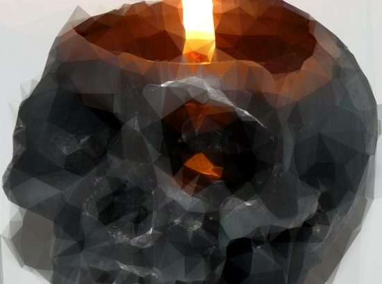 Skull Candle Polygon